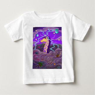 Purple Giraffe Hurricane Baby T-Shirt