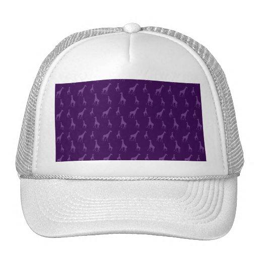 Purple giraffe pattern hats
