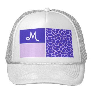 Purple Giraffe Pattern Trucker Hats