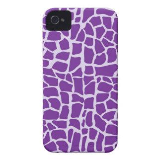 Purple giraffe pattern mosaic iPhone 4 Case-Mate case