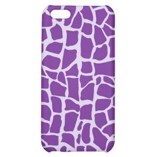 Purple giraffe pattern mosaic iPhone 5C cases
