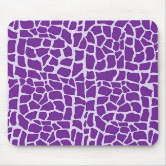 Purple giraffe pattern mosaic mouse pad