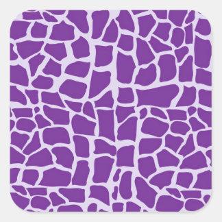 Purple giraffe pattern mosaic sticker