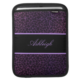 Purple Giraffe Personalized Rickshaw iPad Sleeve
