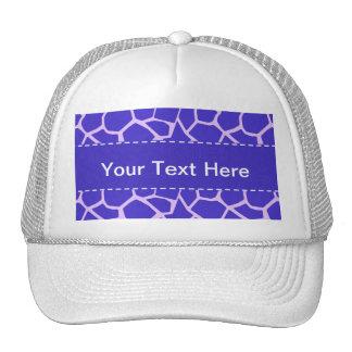 Purple Giraffe Print Mesh Hats