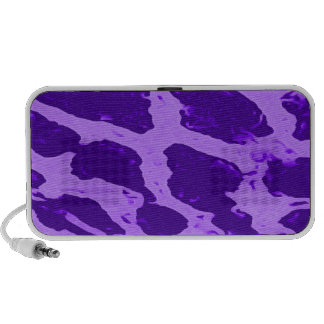 Purple Giraffe Print Doodle Speakers