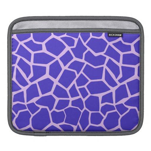 Purple Giraffe Print iPad Sleeve