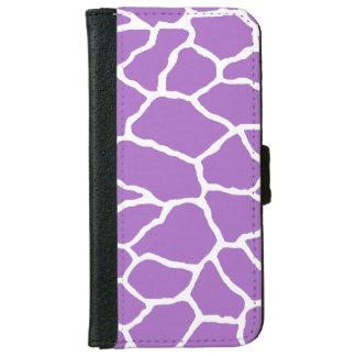 Purple Giraffe Print iPhone 6/6s Wallet Case iPhone 6 Wallet Case