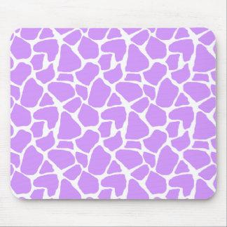 Purple Giraffe Print Mousepad