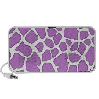 purple giraffe skin portable speaker