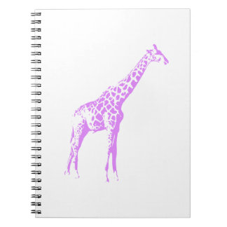 Purple Giraffe Spiral Note Books