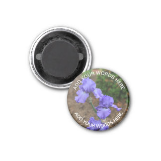 Purple Gladiolus: Personalised Magnet