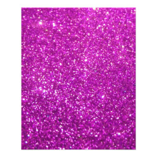 Purple Glamour Sparkley 11.5 Cm X 14 Cm Flyer