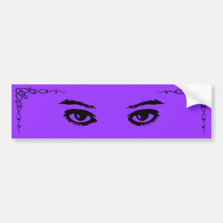 Purple Glances Bumper Sticker