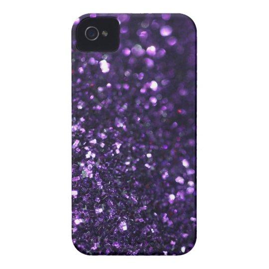 Purple Glimmer iPhone 4 Case-Mate Case