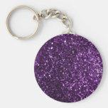 Purple Glimmer Keychains