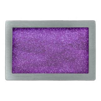 Purple Glitter Belt Buckle