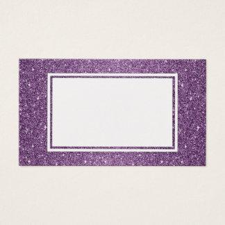 Purple Glitter Customizable Business Card