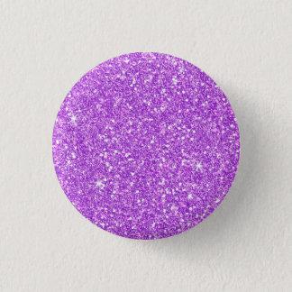 Purple Glitter Diamond Luxury Shine 3 Cm Round Badge