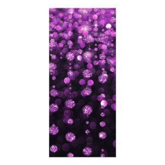 Purple Glitter Diamonds Personalised Rack Card