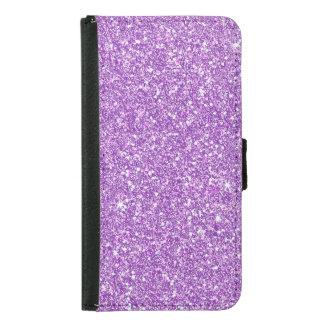 Purple Glitter Effect Samsung Galaxy S5 Wallet Case