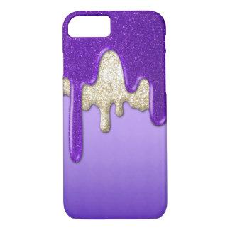 Purple Glitter Flow iPhone 8/7 Case
