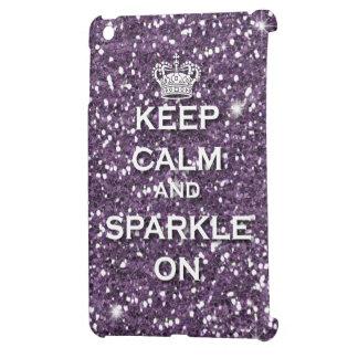 Purple Glitter Keep Calm & Sparkle Ipad Mini case