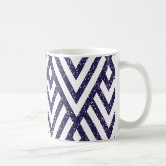 Purple Glitter Line Pattern on Mug