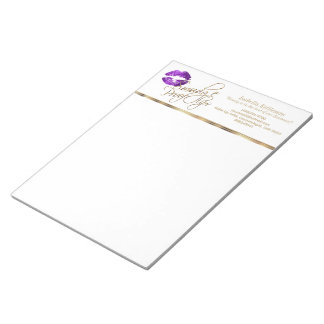 Purple Glitter Lips Notepad
