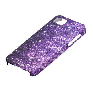 Purple Glitter look iPhone 5 Case