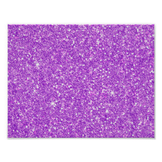 Purple Glitter Luxury Diamond Poster