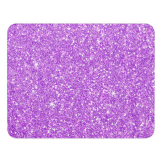 Purple Glitter Luxury Diamond Shine Door Sign