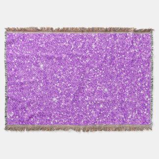 Purple Glitter Luxury Diamond Shine Throw Blanket