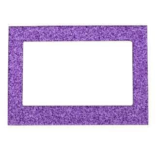 Purple glitter magnetic picture frame