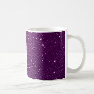 Purple Glitter Basic White Mug
