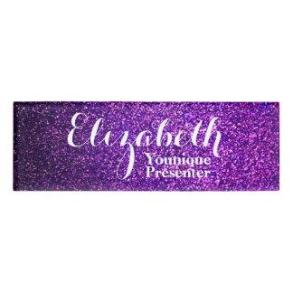 Purple Glitter Name Tag