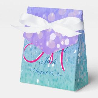 Purple Glitter Patio Lantern Confetti Glam Glow Favour Box