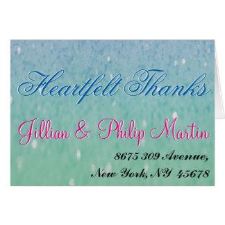Purple Glitter Patio Lantern Confetti Glam Glow Greeting Card