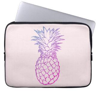 Purple Glitter Pineapple Laptop Computer Sleeve