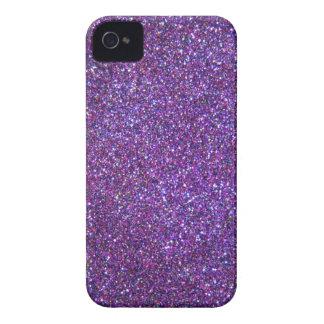 Purple glitter print iphone case