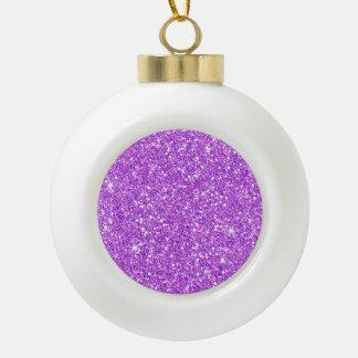 Purple Glitter Shine Shiny Luxury Diamond Ceramic Ball Decoration