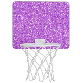 Purple Glitter Shine Shiny Luxury Diamond Mini Basketball Hoop