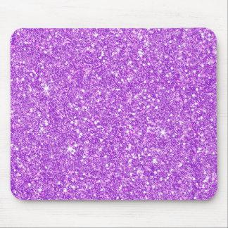 Purple Glitter Shine Shiny Luxury Diamond Mouse Pad