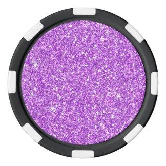 Purple Glitter Shine Shiny Luxury Diamond Poker Chips