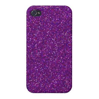 Purple Glitter Sparkle Graphic Art Pattern Design iPhone 4/4S Cover