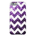 Purple glitter sparkles + White Chevron iPhone 6