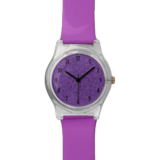 Purple Glitter Watch