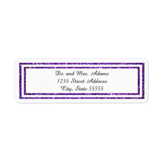 Purple Glittered Trim - Address Label