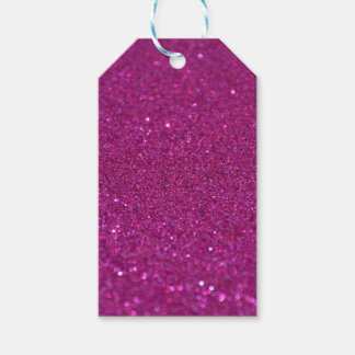 Purple Glittery Gift Tags
