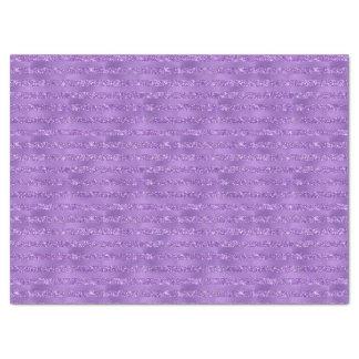Purple Glittery Stripes Tissue Paper